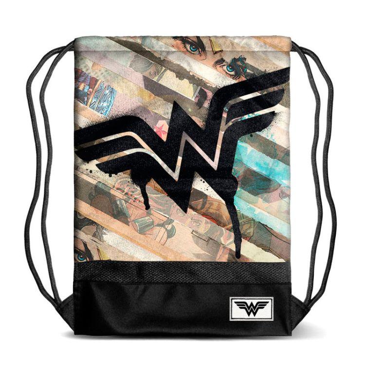 7ee8f39e3e31 DC Comics Wonder Woman Collage gym bag 48cm