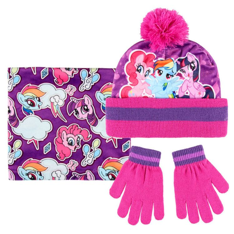 My Little Pony winter set snood hat gloves a1bf36c3c1c