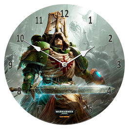Reloj pared Dark Angels Warhammer 40,000 cristal