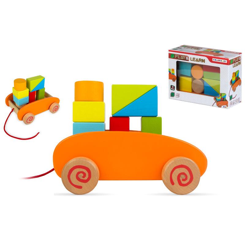 Carrito blocks madera 9pzs 8412842427488