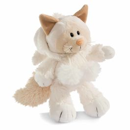 Nici White Cat soft plush toy 20cm