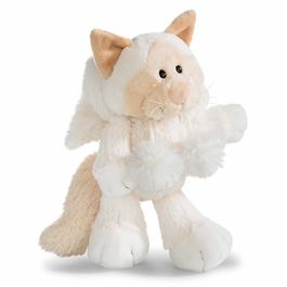 Nici White Cat soft plush toy 25cm