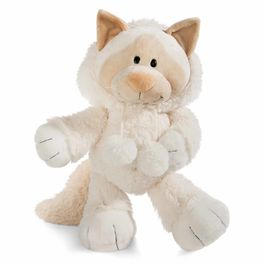 Nici White Cat soft plush toy 75cm