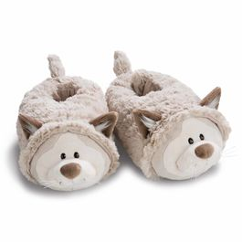 Nici Gray Cat 3D slippers M