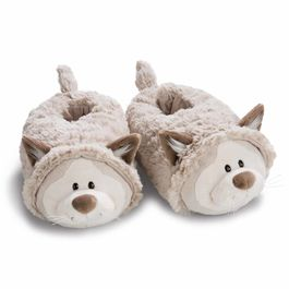 Nici Gray Cat 3D slippers L