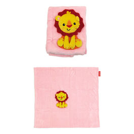 Lion soft blanket and plush toy