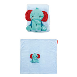 Elephant soft blanket and plush toy