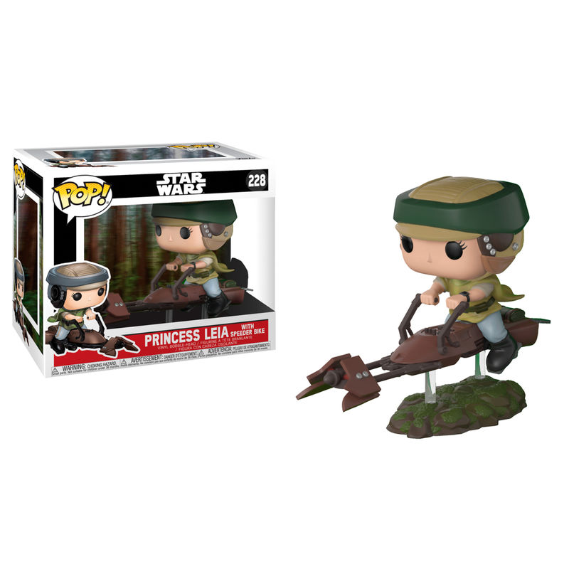 Figura POP Star Wars Leia Luke on Speeder Bike Deluxe 2 + 1 Chase