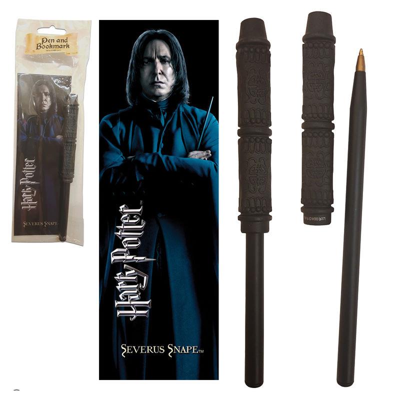 Varita boligrafo y marcapaginas Severus Snape Harry Potter