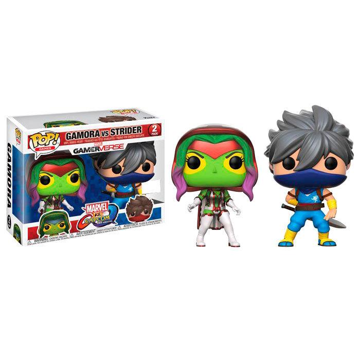 Set 2 figuras POP Capcom vs Marvel Gamora vs Strider Exclusive