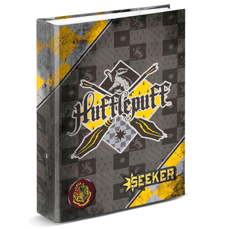 Carpeta Harry Potter Quidditch Hufflepuff anillas