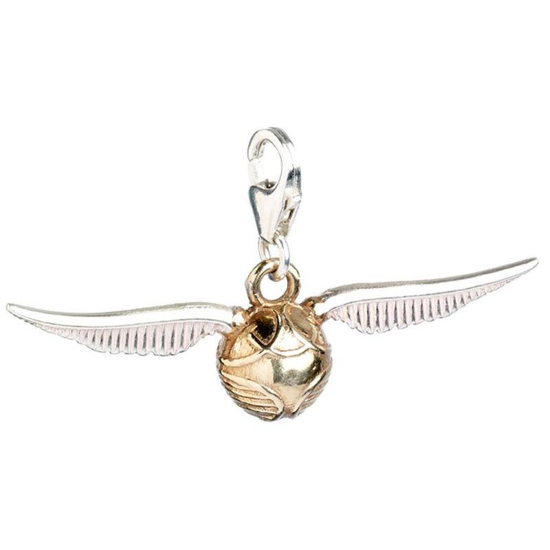 Colgante charm Golden Snitch Harry Potter plata