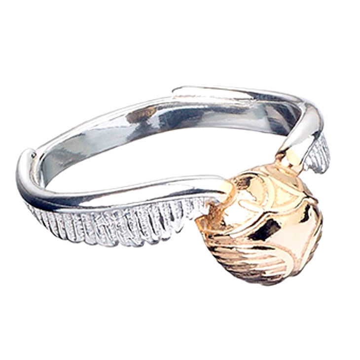 Anillo Snitch Dorada Harry Potter plata