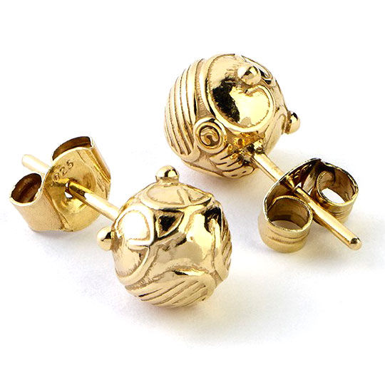 Pendientes Golden Snitch Stud plata