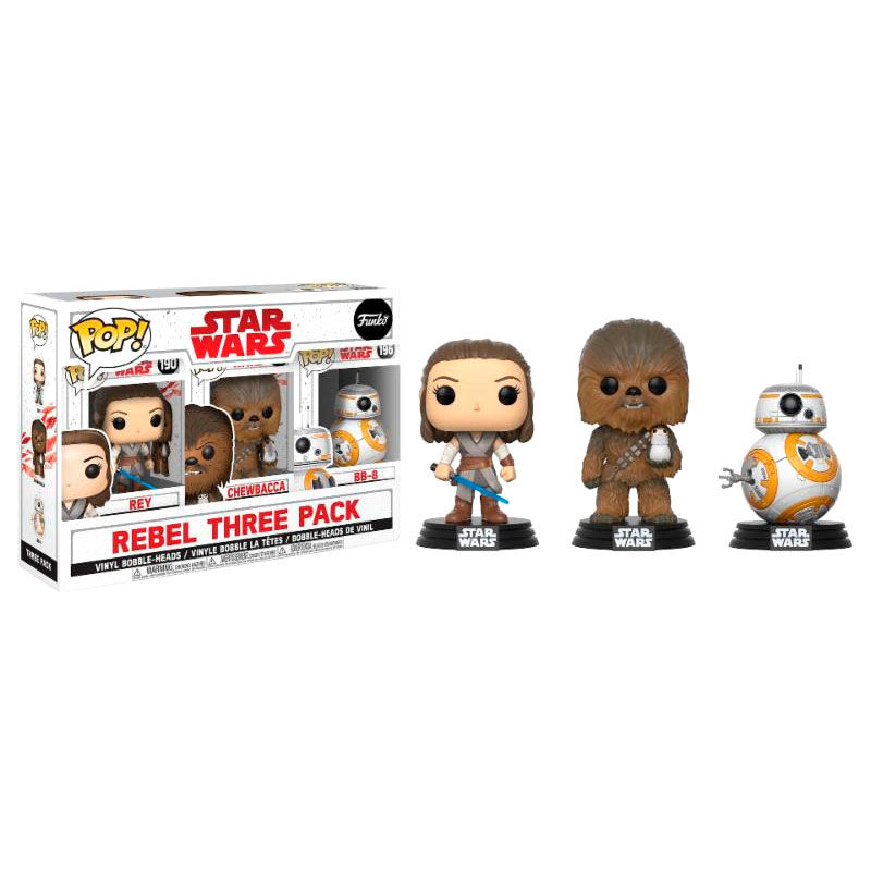 Set 3 figuras POP! Star Wars VIII The Last Jedi Good Guys Exclusive