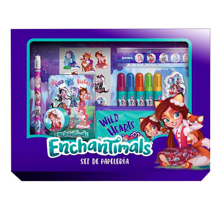 Set papeleria Enchantimals 20pzs