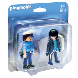 Duo Pack Policia y Ladron Playmobil City Action