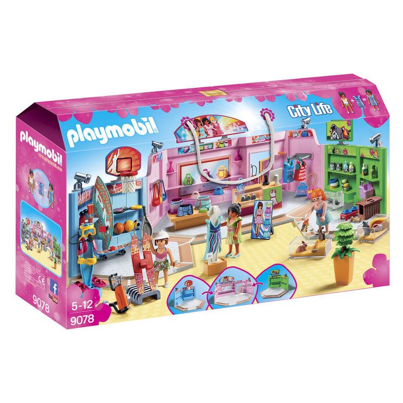 Paseo Comercial con 3 tiendas Playmobil City Life