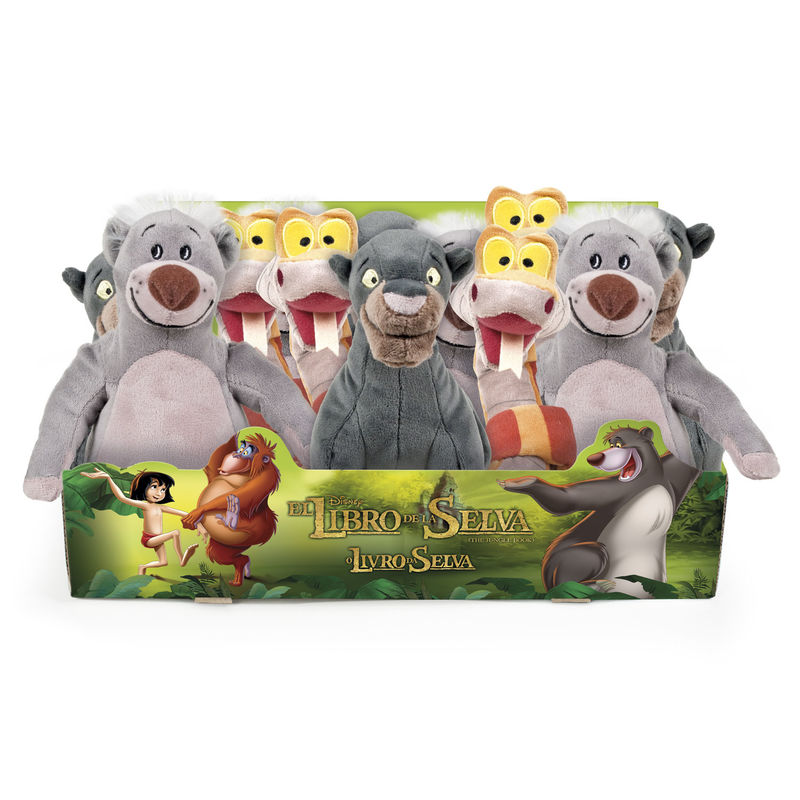974e10125dd8 Disney Jungle Book assorted soft plush toy 25cm - OcioStock ...