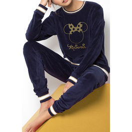 Pijama Minnie Navy Disney velour adulto
