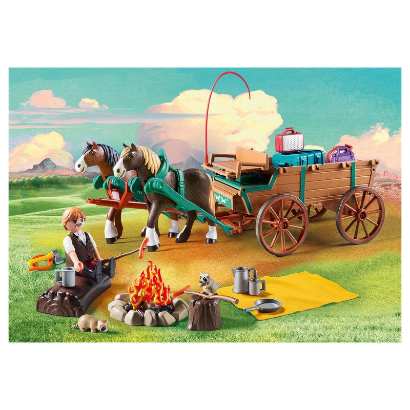 Papa de Lucky y Carruaje Spirit Playmobil