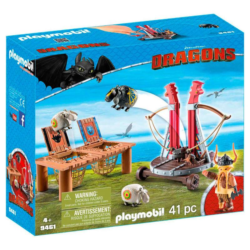 Bocon con Lanzadera de Ovejas Dragons Como Entrenar a tu Dragon Playmobil