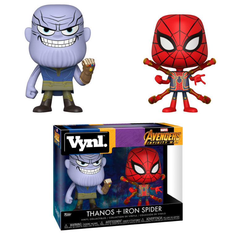 Vynl Figures Marvel Avengers Infinity War Thanos Iron Spider