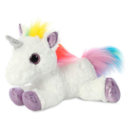 Peluche Unicornio blanco multicolor 31cm