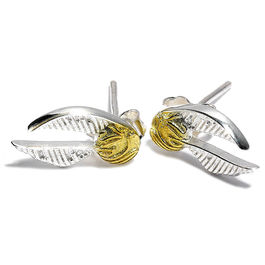 Pendientes Golden Snitch plata