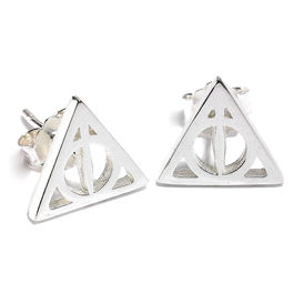 Pendientes Deathly Hallows plata