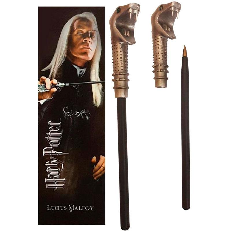 Varita boligrafo y marcapaginas Lucius Malfoy Harry Potter