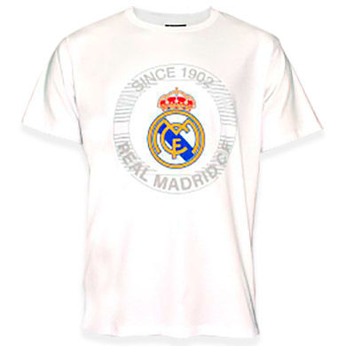 Camiseta estampada Real Madrid blanco adulto 8435498725746