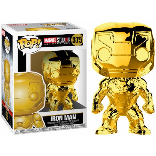 Figura POP Marvel Studios 10 Iron Man Gold Chrome