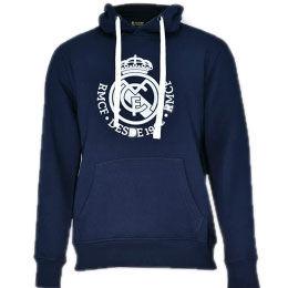 9809109873915 REAL MADRID · Sudadera Real Madrid capucha marino adulto
