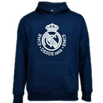 Sudadera Real Madrid capucha marino junior 8435498704000