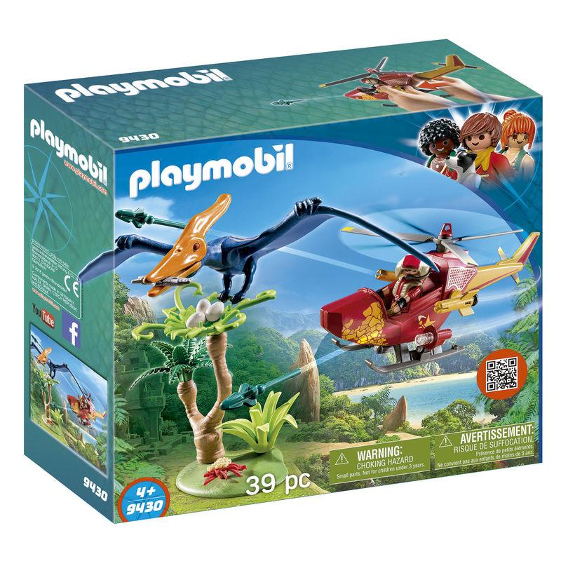 Helicoptero con Pterosaurio Playmobil The Explorers