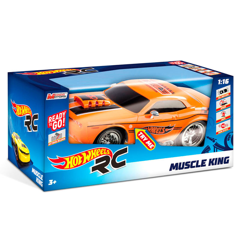Coche Muscle King Hot Wheels radio control