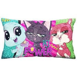 Cojin jumbo Littlest Pet Shop velour brillo 70cm