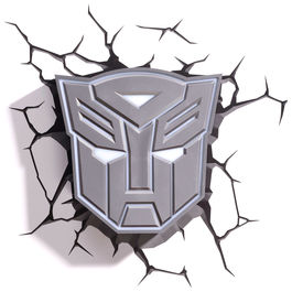 Lampara led 3D pared Autobot Transformers