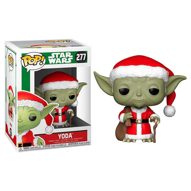 Figura POP Star Wars Holiday Santa Yoda 889698338851
