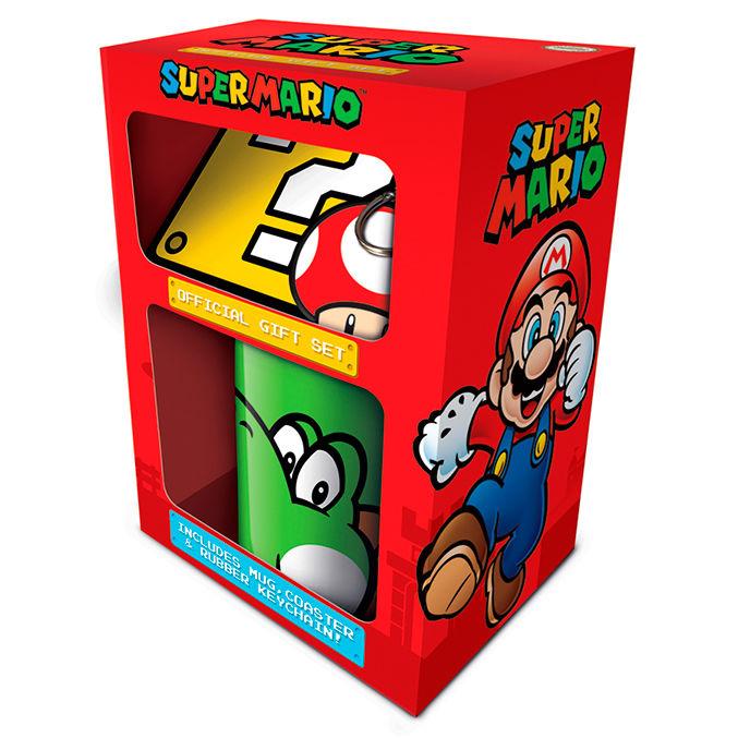 Pack regalo taza llavero Super Mario Nintendo 5050293852058