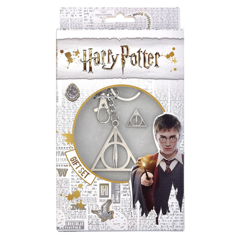 Set llavero + pin Deathly Hallows Harry Potter