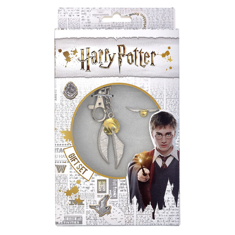 Set llavero + pin Golden Snitch Harry Potter