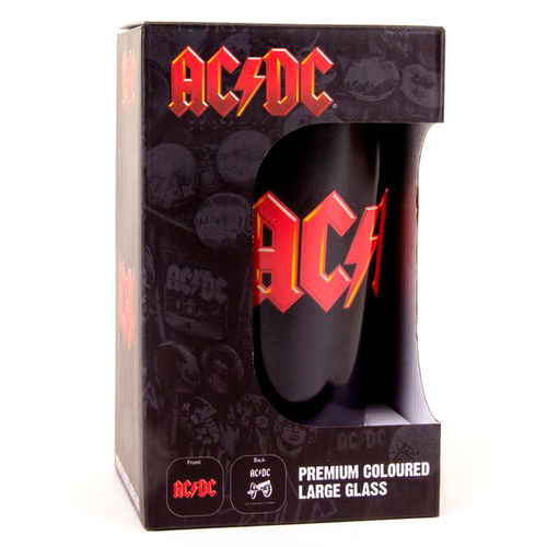 AC/DC Logo Cannon Coloured Glass Premium Large Glass Cookware, Dining & Bar