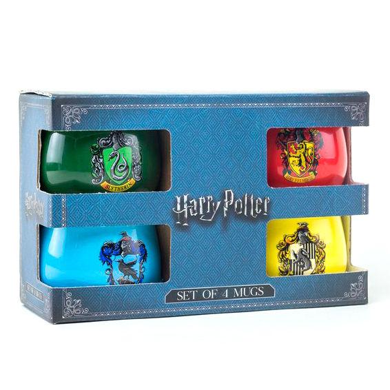 Set 4 tazas House Crests Harry Potter