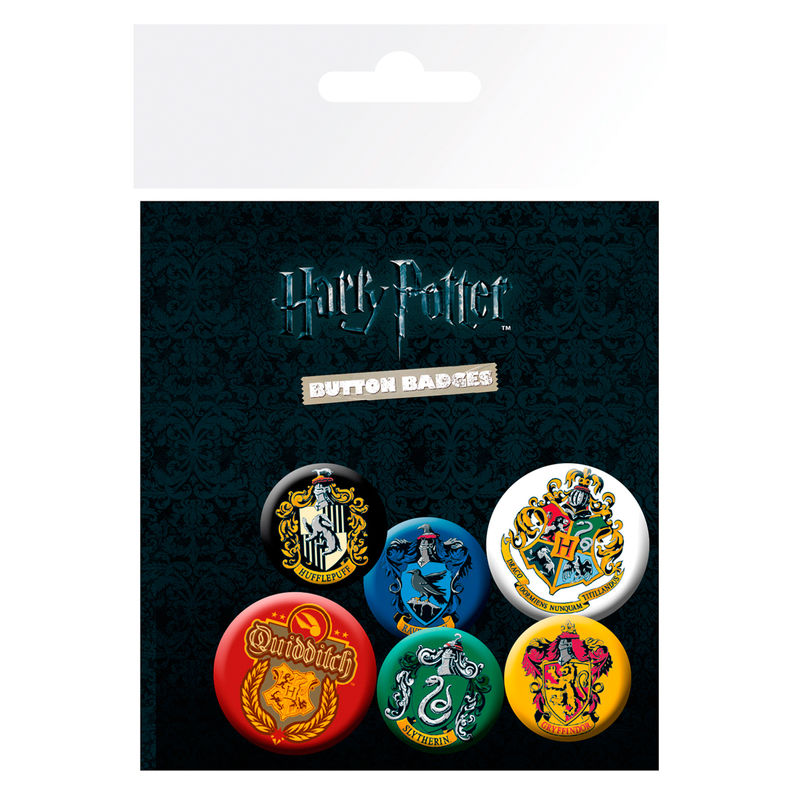 Set chapas Crests Harry Potter