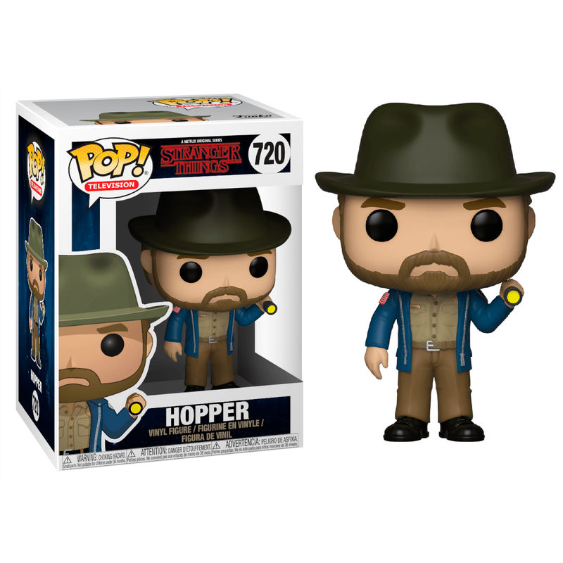 Figura POP Stranger Things Hopper with Flashlight