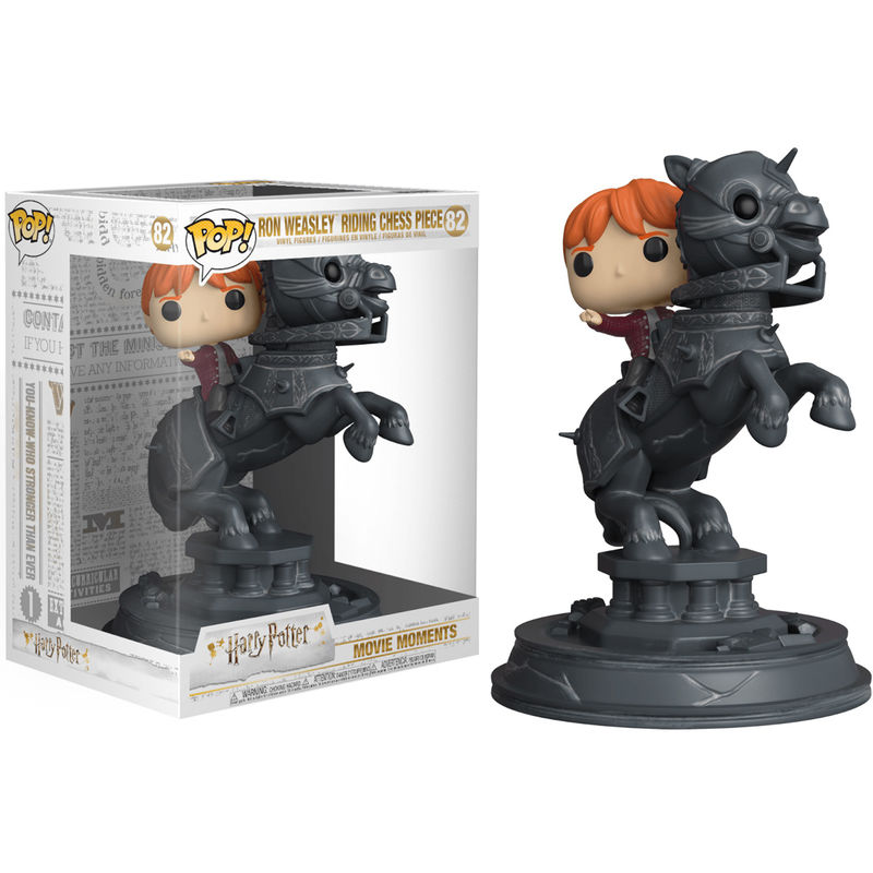 Figura POP Movie Moments Harry Potter Ron montado en caballo de Ajedrez