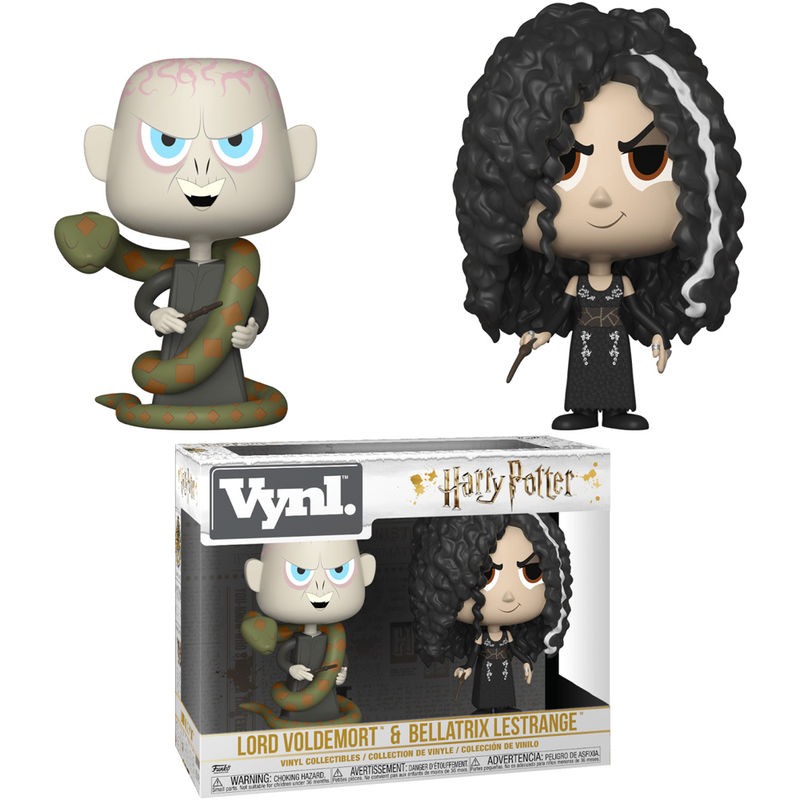 Figuras Vynl Harry Potter Bellatrix & Voldemort