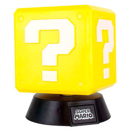Lampara 3D Question Block Super Mario Bros Nintendo